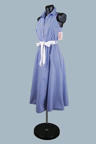Летнее платье в синюю полоску. Италия. Размер 42-46