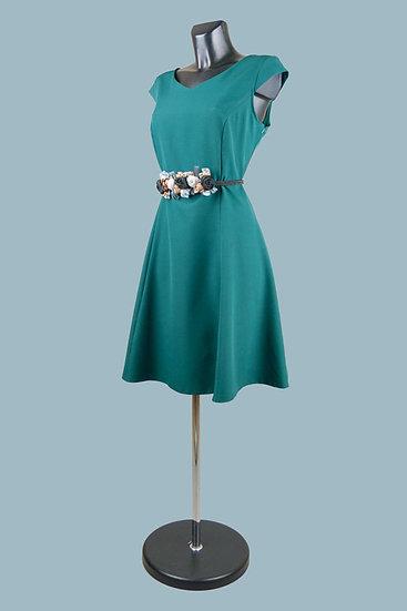 Нарядное классическое зеленоеплатье. Размер: 42-52. Польша