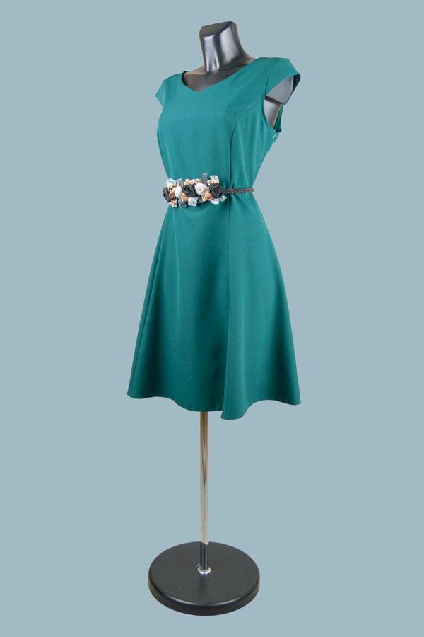 Платье нарядное зеленое 2088