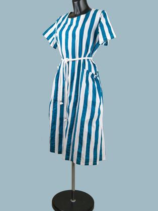 Платье летнее в голубую полоску