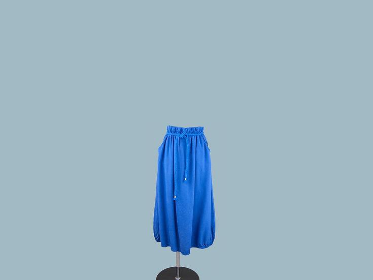 Юбка из лиоцелла  ярко синяя 2265