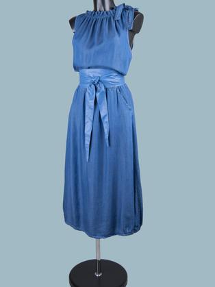 Платье макси джинсовое 2047