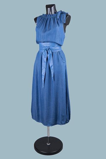 Длинное летнее джинсовоеплатье. Италия. 100% лиоцелл. Размер: 44-52