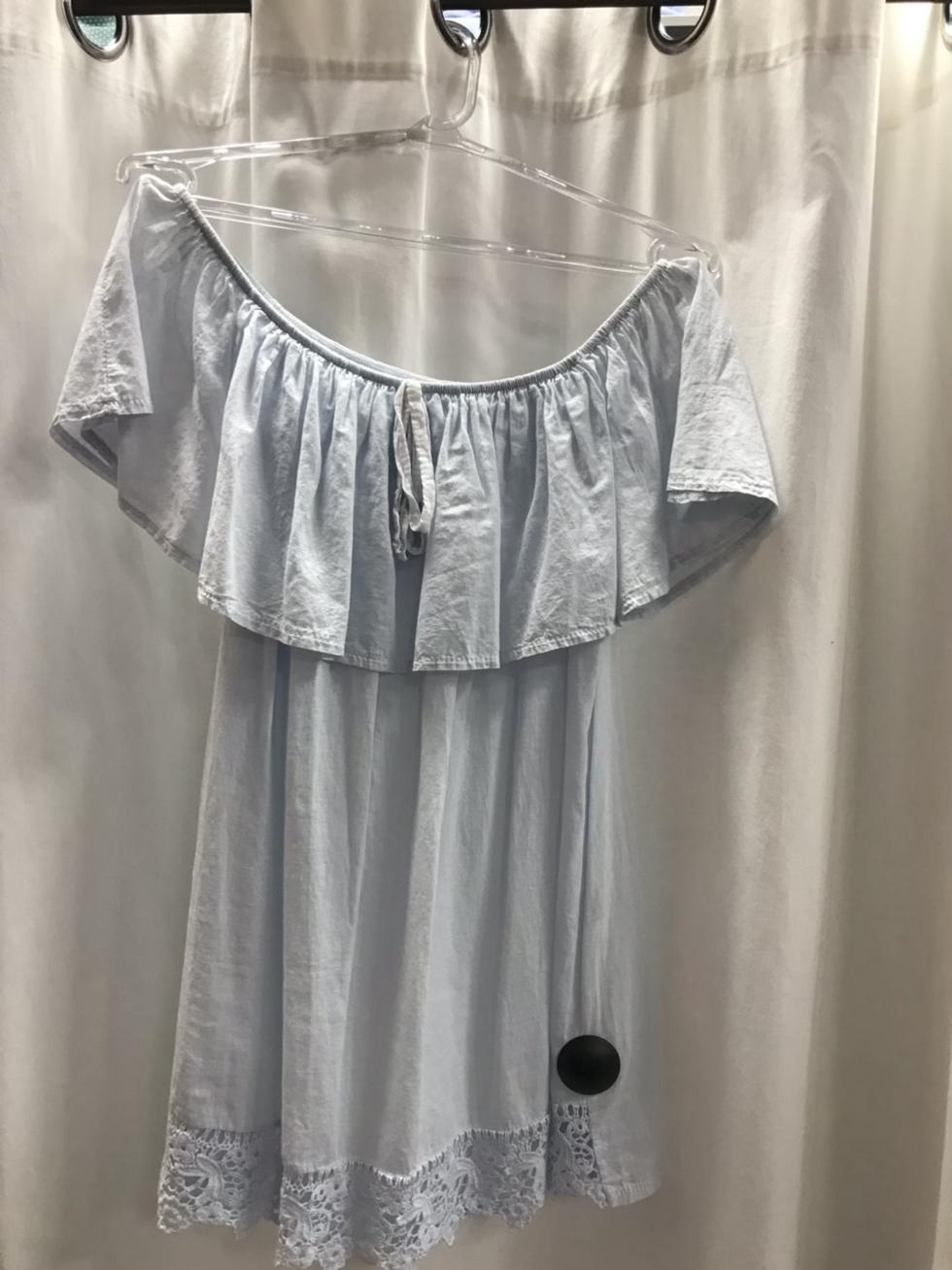 Блузка голубая 15250610
