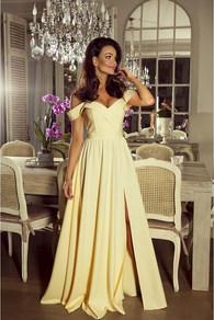 Вечернее платье в пол желтое 1757