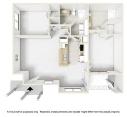 2bed2bath Lg 3D Floor