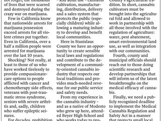 Stanislaus County Must Take Lead in Marijuana