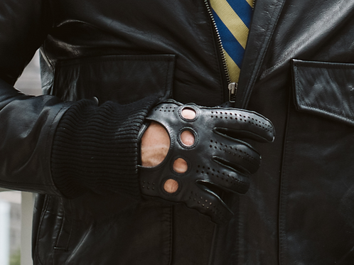 Black Leather RONA Gloves