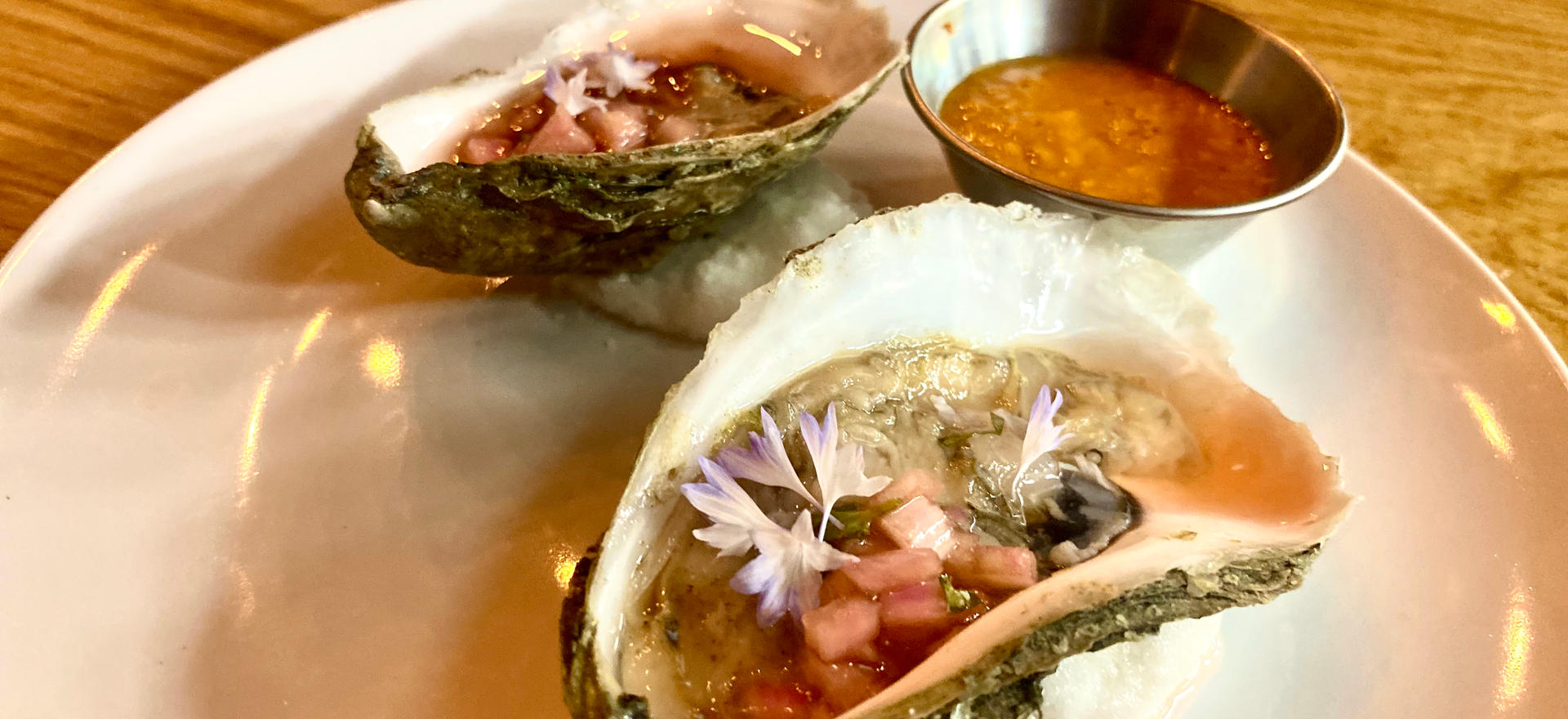 Cape Cod Oysters with Sour Cherry Beer
