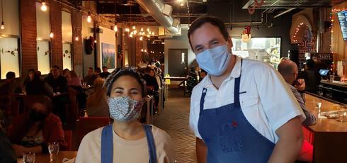 Marissa and Chef Benjamin Wood