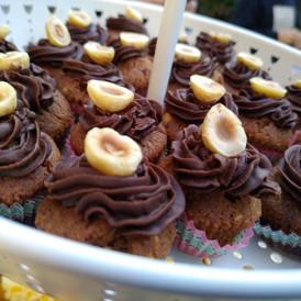 mini muffins σοκολάτα-φουντούκι