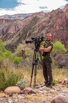 Pim Niesten filming in Grand Canyon NP