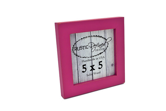 "5x5 1"" Gallery Picture Frame - Hot Pink"