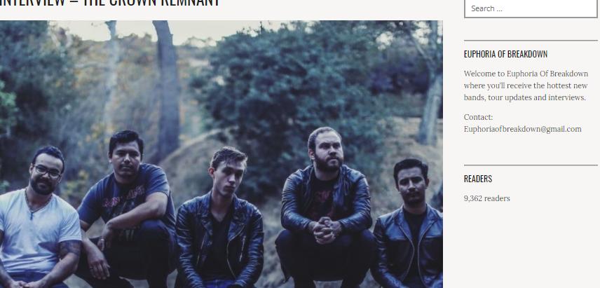 U.K. Interview with Euphoria of Breakdown!