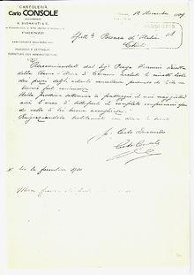 Lettera Banca d'Italia Console Firenze 1