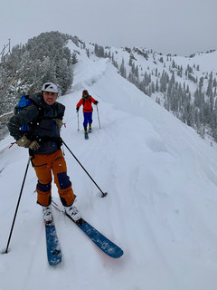 Traversing the ridgeline between Little and Big Cottonwood Canyons