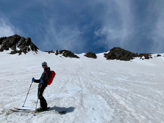 Late spring conditions on Mt. Superior's North Face
