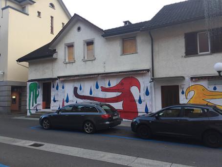 Graffitis in der Molkereistrasse Jona