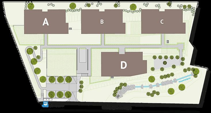 Häuser Übersicht für Auswahl auf Webseit