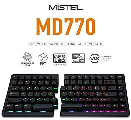 Mistel BAROCCO MD770 RGB LED Backlit TKL Split Mechanical Keyboard