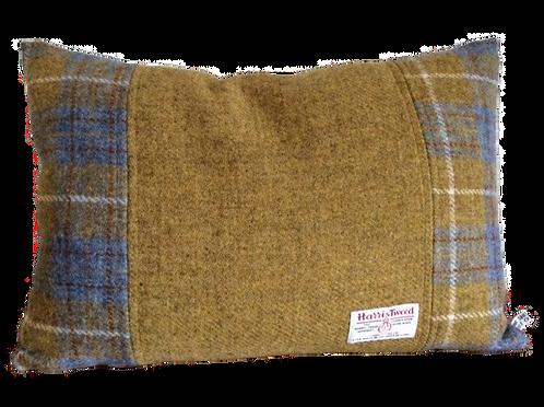 Harris Tweed Cushion Mustard/Mustard/Blue CheckHunting Macleod