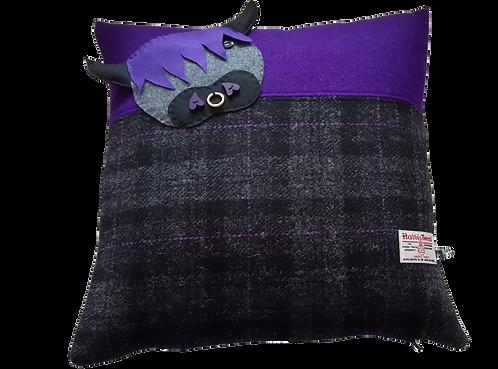 Harris Tweed Hector Coo - Purple/Black Check