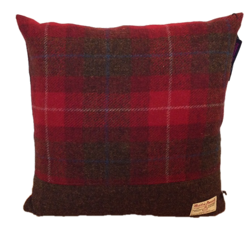 Harris Tweed Cushion Red Check