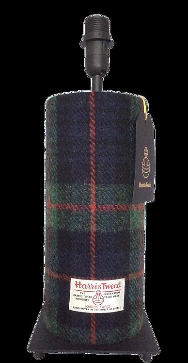 Harris Tweed Tube Lamp - Green/Navy/Red Check
