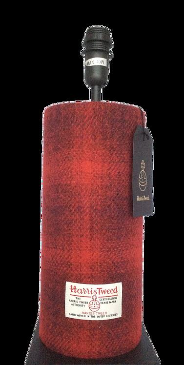Harris Tweed Tube Lamp - Red/Black shadow A0191