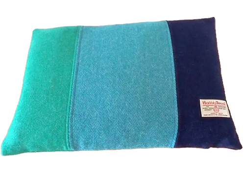 Harris Tweed Cushion Teal HB/Jade/Navy