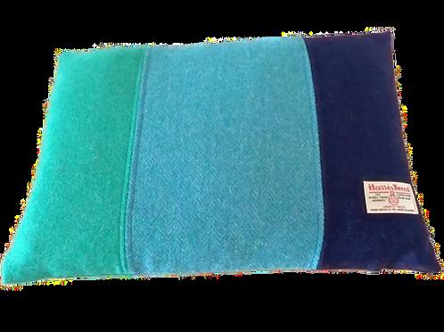 Harris Tweed Cushion Teal HB/Jade/Navy