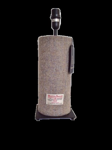 Harris Tweed Tube Lamp -Grey/Brown Vintage