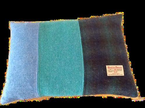 Harris Tweed Cushion Teal HB/L Blue/NavyCheck