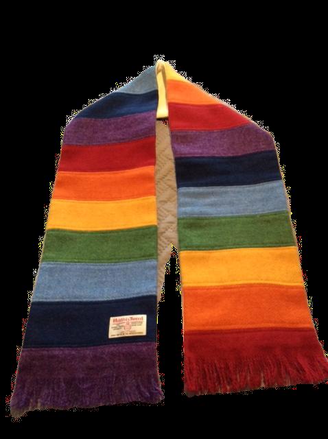 Harris Tweed Rainbow Scarf