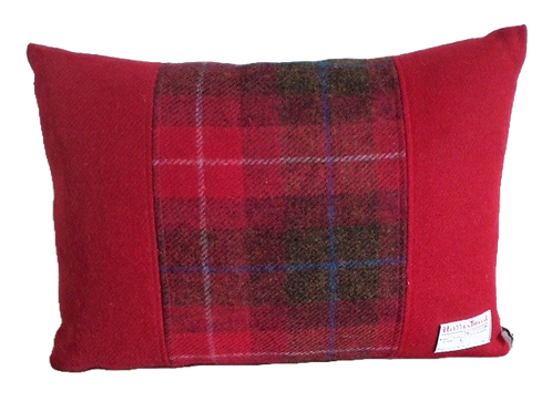 Harris Tweed Cushion Red Check/Red