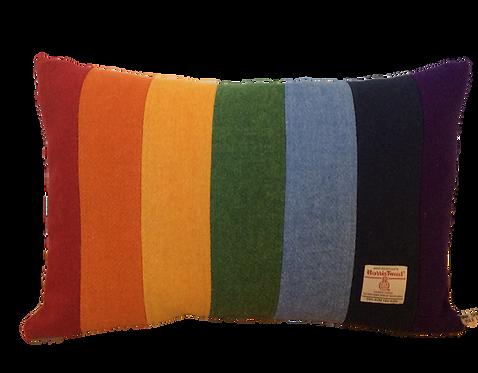 Harris Tweed Cushion Rainbow