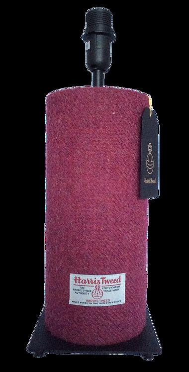 Harris Tweed Tube Lamp - Raspberry Plain YC253