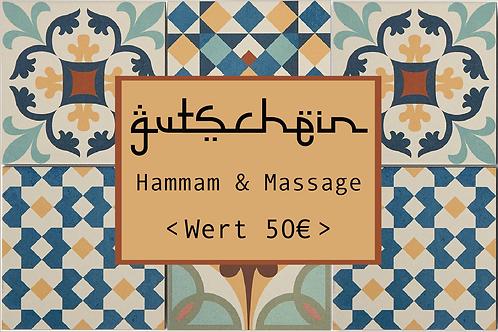 Gutschein für Hammam & Massage
