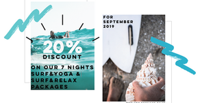 20% Discount on our 7 Nights Surf Packages* (English & Deutsch)