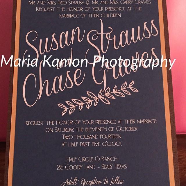 Invitation-Chase & Susan