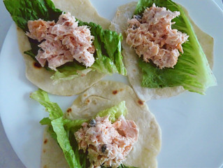 Salmon Taco's With Fresh Made Tortilla's