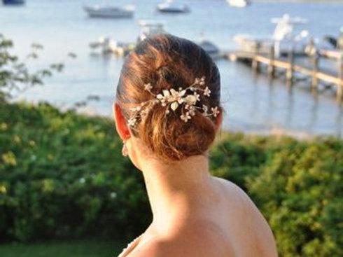 Rose Gold Opal Rhinestone and Opal Hair Clip