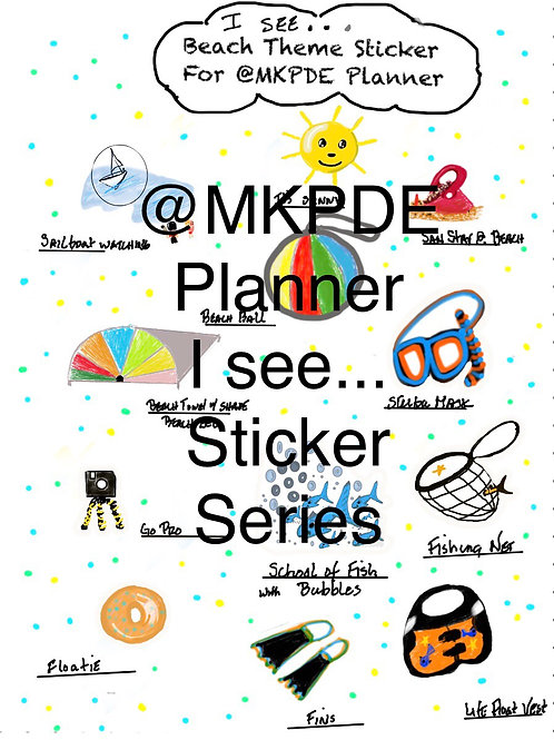 I See....@MKPDE Planner Stickers/Labels