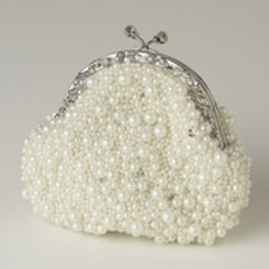 Ivory Pearl, Sequin & Rhinestone Evening Bag