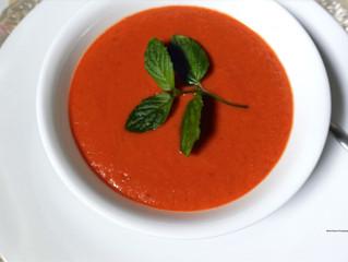 Tomato Mushroom Cream Soup (Vegetarian Friendly Recipe)