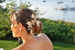 Light Gold Foral Leaf Bridal Hair Clip