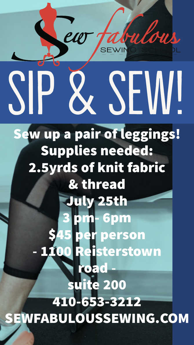 SIP & SEW! Leggings