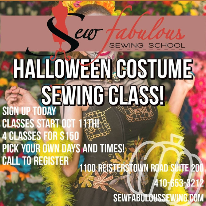 Copy of Halloween Costume Sewing Class ! Starting Oct 11th (4 classes)