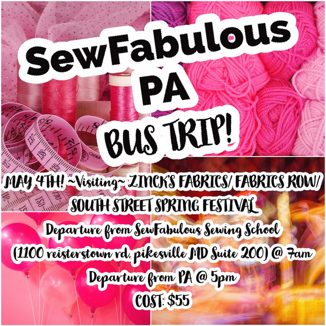 PA BUS TRIP! May 4th