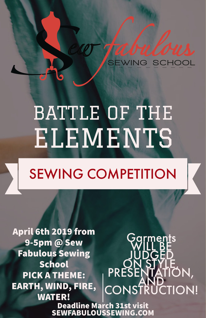 SEWING COMPETITION~ BATTLE OF THE ELEMENTS!